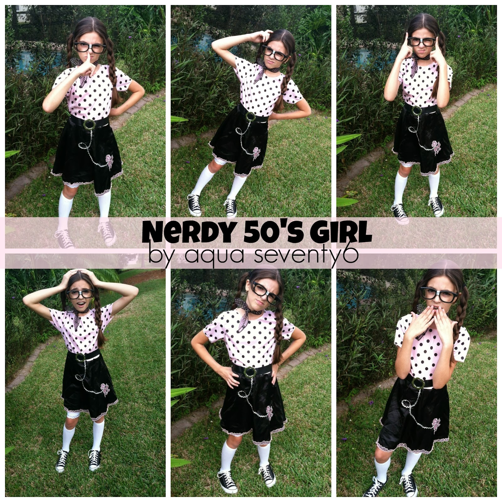 sc 1 st  AquaSeventy6 & Nerdy 50s Girl Putting a Twist on a Store Bought Halloween Costume