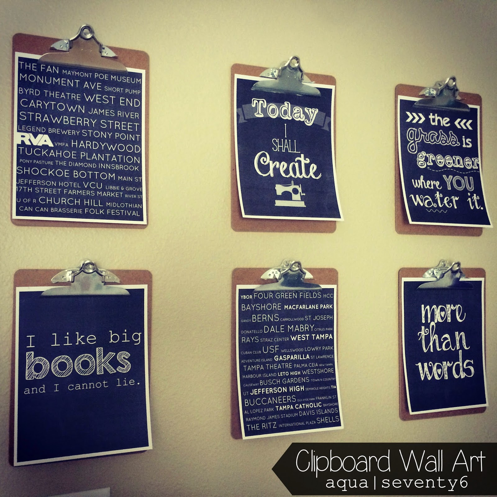 Clipboard Wall Art and Framed Thread Rack