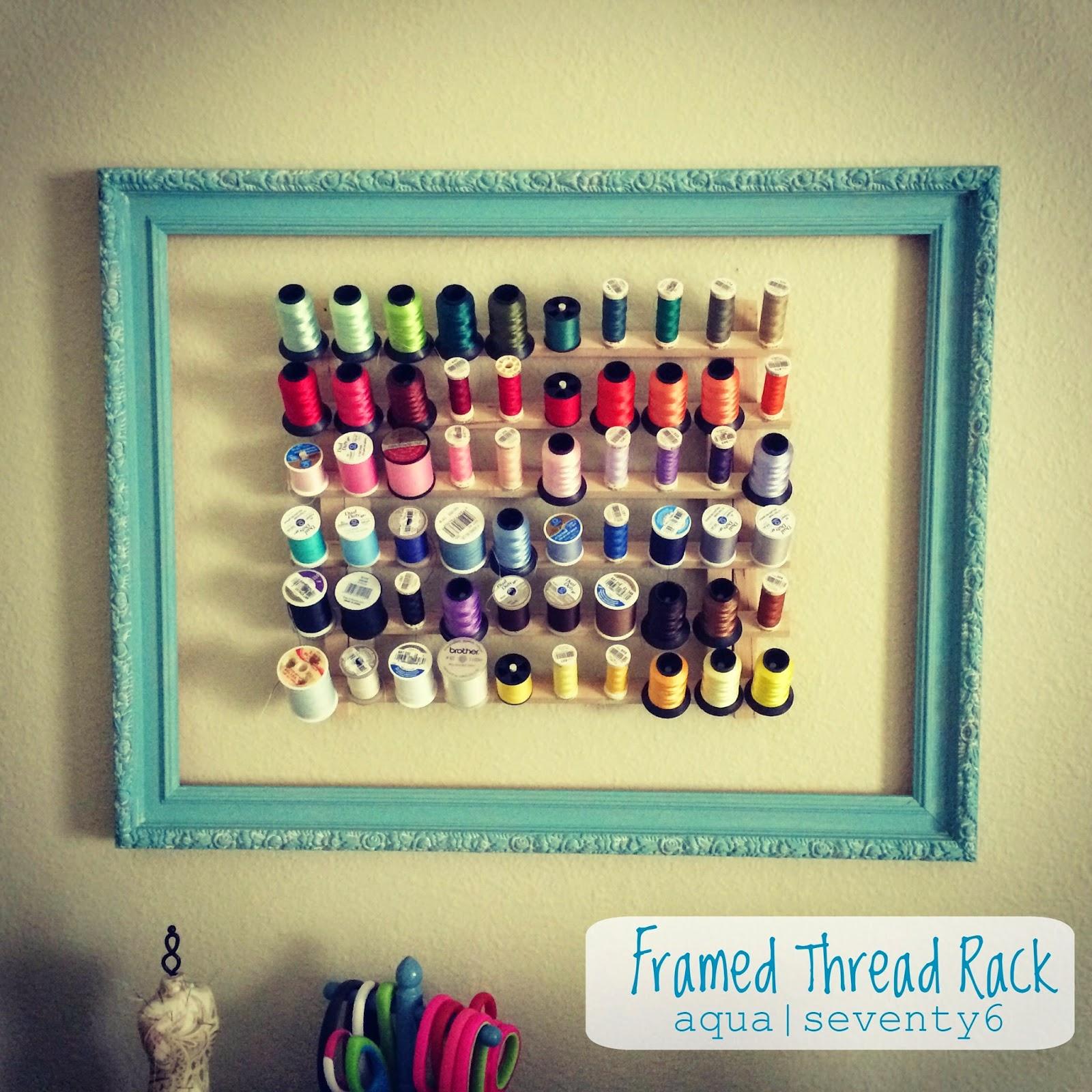 Clipboard Wall Art and Framed Thread Rack