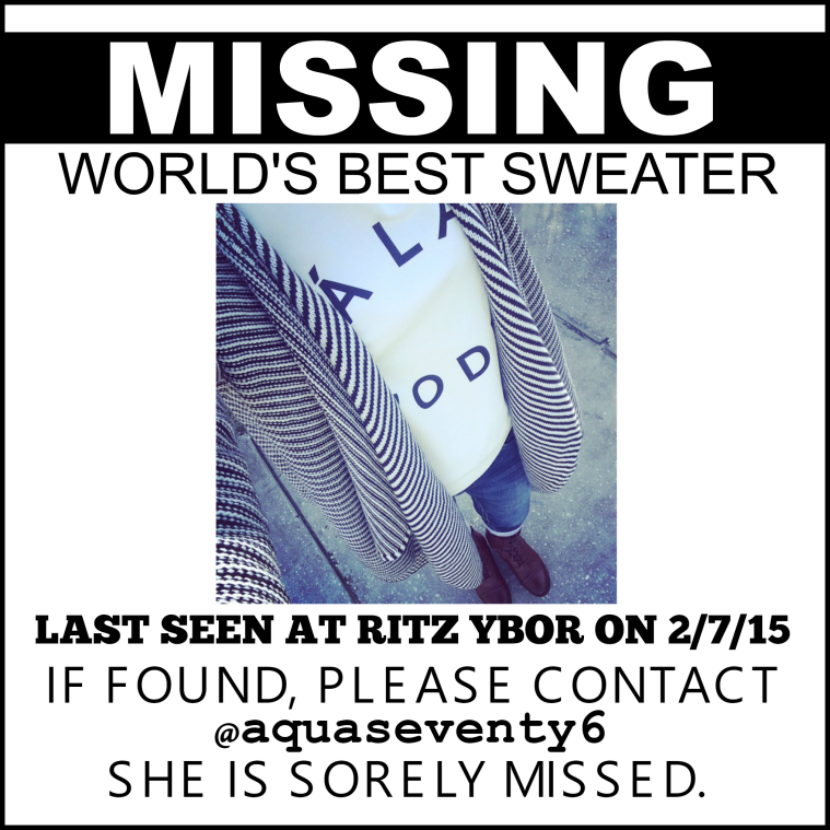 MISSINGSWEATER
